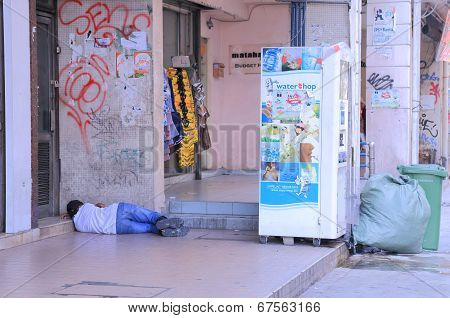 Homeless man Malaysia