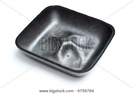 An Empty Gray Polystyrene Fruit Tray
