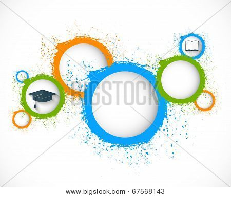 abstract grunge circles. education background