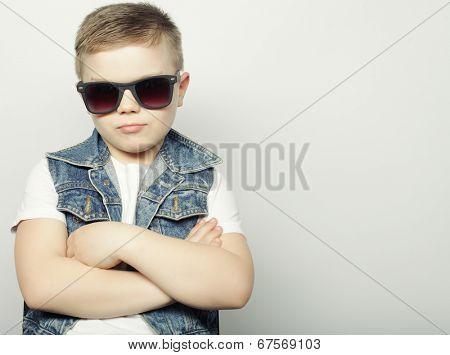 little boy in sunglasses