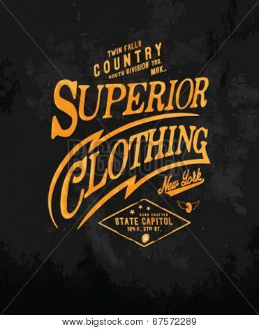 vintage typography for apparel 3