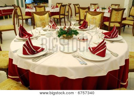 Decorated Restaurant Table