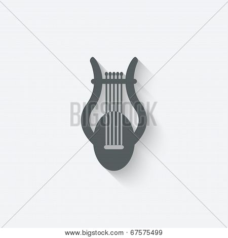 lyre music design element