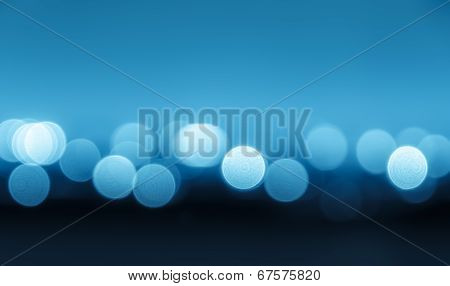 Bokeh Blue Lights Background