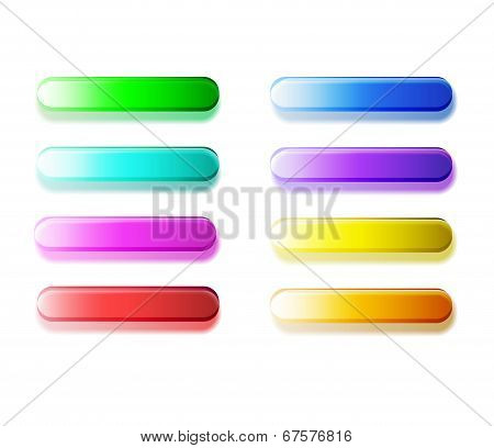 Glossy semi-transparent bars / buttons