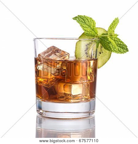Black russian cocktails  with mint