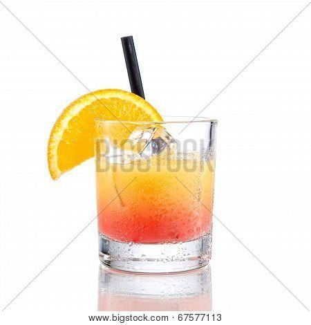 Campari orange gradient cocktail