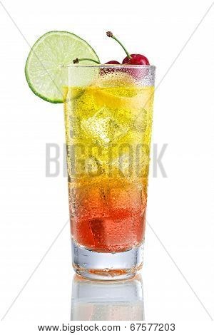 Sea Breeze with Cherry and lime