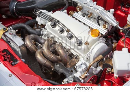 Car engine - under the hood