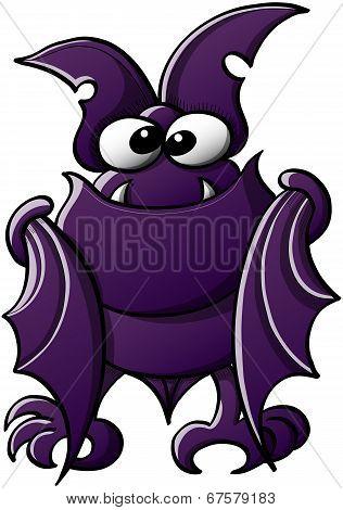 Cute bat posing and staring at you