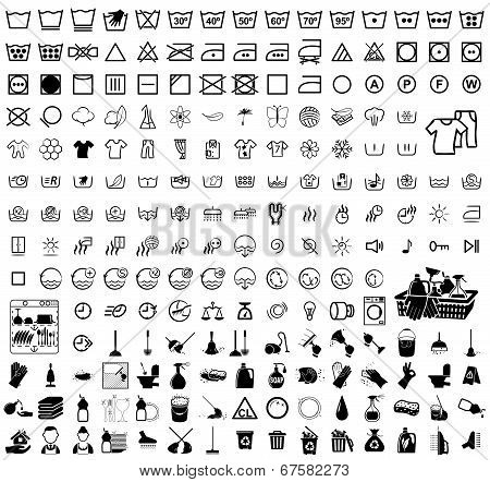 laundry, washer, cleaning icons