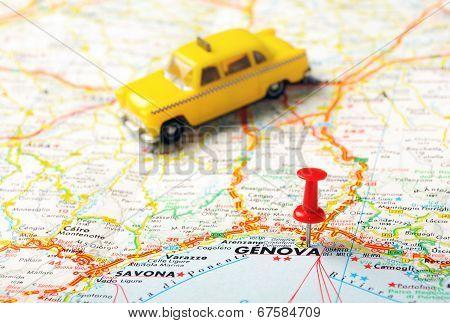 Genova,italy  Taxi   Map
