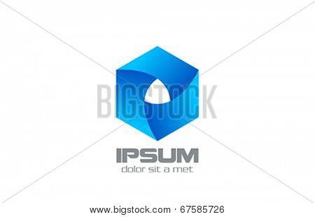 Hexagon Corporate style vector logo design. Infinite looped icon. Infinity loop shape Business