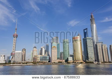 Lujiazui District In Shanghai, China