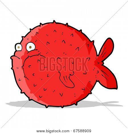 cartoon puffer fish