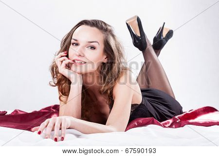Sexy Lady In Bed
