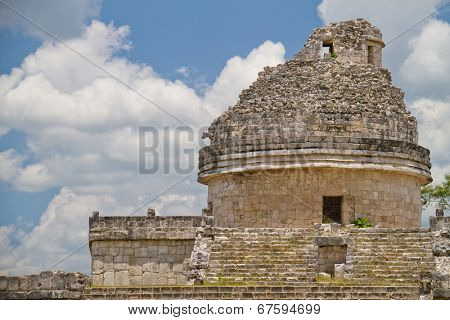 Mayan observatory at Chichen Itza, Mexico
