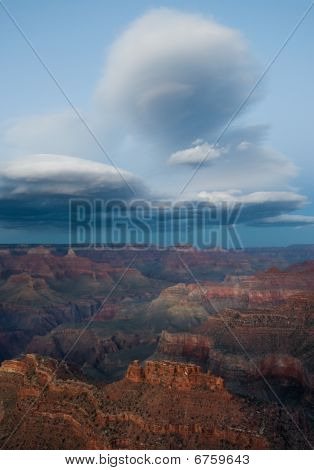 Lenticular Clouds Over Grand Canyon