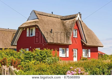 Red Thatched-roof Vacation House