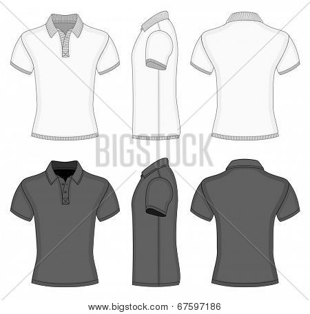 Men 39 S White Black Short Sleeve Vector Photo Bigstock