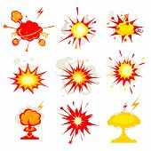 ������, ������: Explosion blast or bomb bang fire