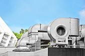 foto of blowers  - Industrial steel air conditioning and ventilation systems - JPG