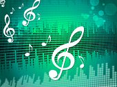foto of treble clef  - Treble Clef Background Meaning Sound Frequency Or Music Wave - JPG