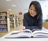 picture of reading book  - Asian woman reading a book - JPG