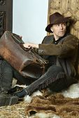 pic of bandit  - Bandit with gun in the wild west - JPG