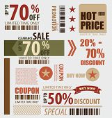 image of coupon  - Word for Price tag - JPG