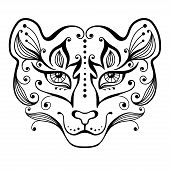 pic of tigress  - Tattoo tigress in decorative style - JPG