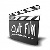 stock photo of cult  - detailed illustration of a clapper board with Cult Film term - JPG