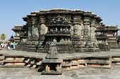 stock photo of karnataka  - Chennakesava Temple in the town Hassan in the Karnataka state India - JPG