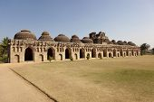 pic of vijayanagara  - Elephant stables at Royal enclosure  - JPG
