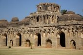 stock photo of vijayanagara  - Elephant stables at Royal enclosure  - JPG