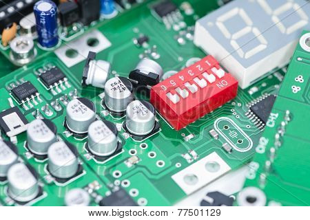 Heap Of Pcbs And Electronic Components