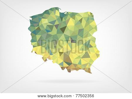 Low Poly Map of Poland