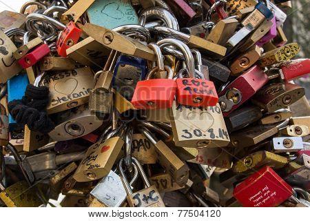 Love Locks On Bridge