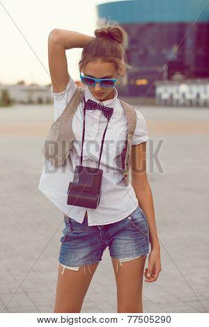 Trendy Girl Posing