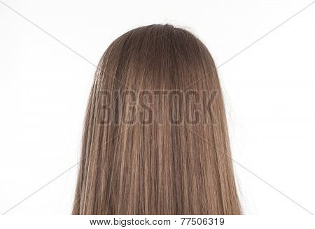 Combed brunette hair