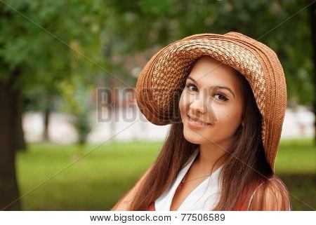 Hipster Girl In Summer City