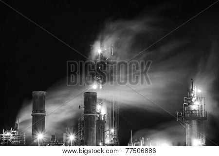 Fumes from an old oil plant .