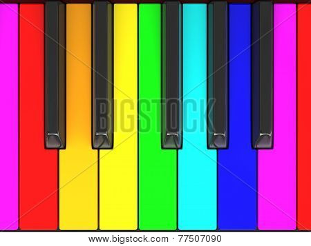Color piano keys