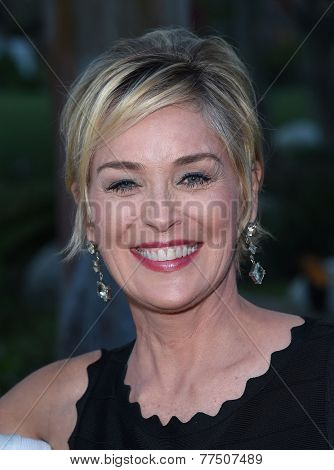 LOS ANGELES - SEP 13:  Sharon Stone arrives to Brent Shapiro Foundation Summer Spectacular 2014  on September 13, 2014 in Los Angeles, CA