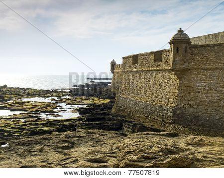 San Sebastian Castle. Cadiz, Andalusia. Spain