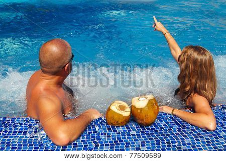 Couple In Jacuzzi