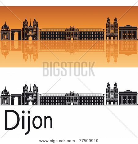 Dijon Skyline In Orange Background