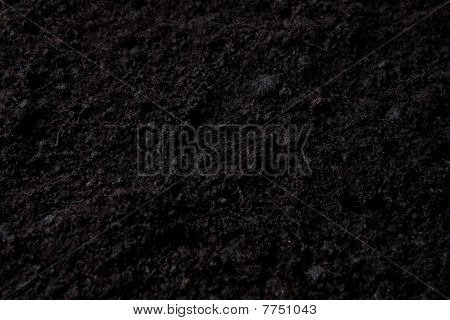 Dark Background With Top Soil