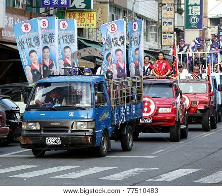 Election Campaign In Taiwan