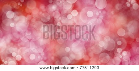 Red Bokeh Christmas Background Wide Banner